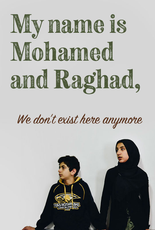 My name is Mohamed and Raghad