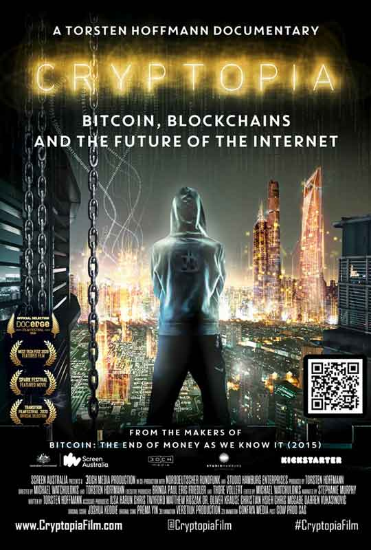 Cryptopia: Bitcoin, Blockchains and the Future of the Internet film poster